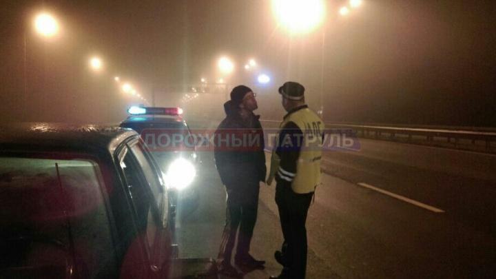 Ночью на трассе Уфа–аэропорт полиция преследовала ВАЗ-21099