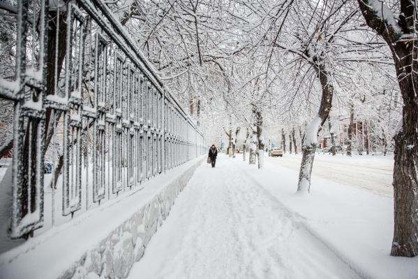 В середине недели в Новосибирске ожидаются снегопады— к пятнице они усилятся
