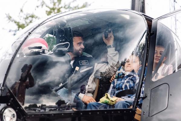 Гольдман сам управлял своим вертолетом
