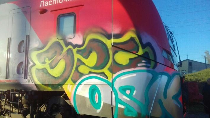 В Прикамье полицейские нашли предполагаемых вандалов, разрисовавших «Ласточку»