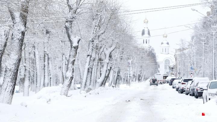 Ослепительная белизна: смотрим, как красив Архангельск в снегопад