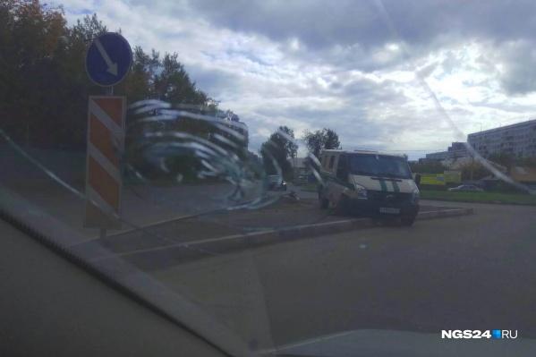 Авария произошла на кольце Брянской