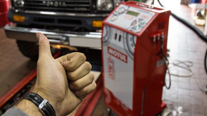 Защищаем мотор и заботимся о трансмиссии:аппаратная замена масла по программе MOTUL EVO