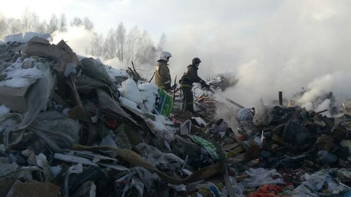 Химмаш, выдыхай! Спасатели потушили пожар на свалке, которая горела шесть дней