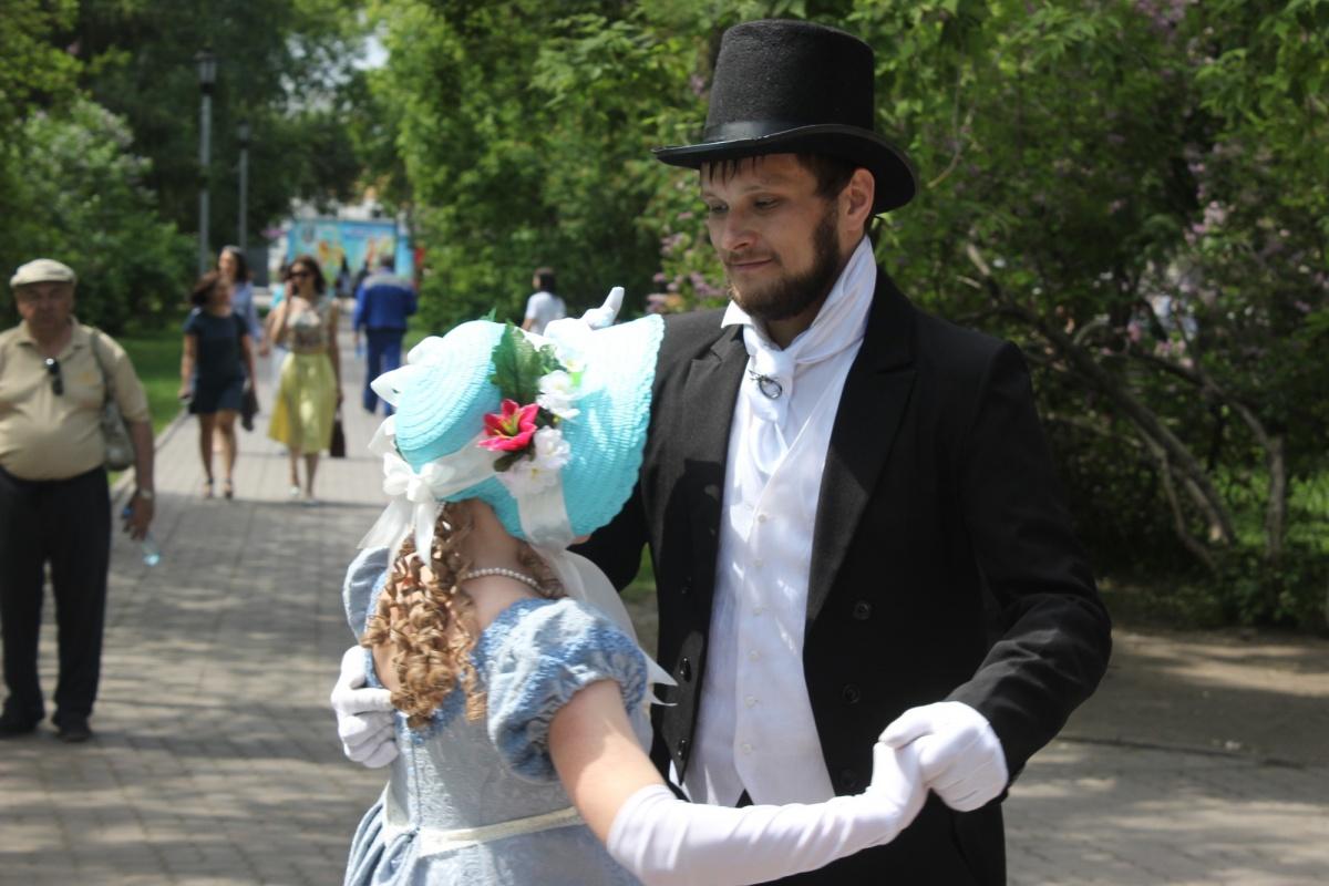 Празднование дня рождения Александра Сергеевича Пушкина в Первомайском сквере