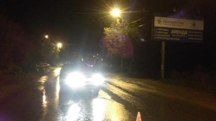 В Уфе внедорожник сбил пенсионерку, переходившую дорогу в темноте
