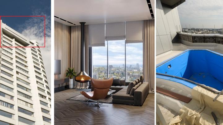 45 миллионов — и он ваш: гуляем по трехэтажному пентхаусу с бассейном и террасой размером с квартиру