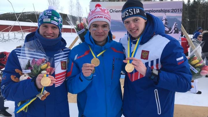 «Боролся с теми, кто старше»: челябинский школьник выиграл мировое золото по лыжному ориентированию