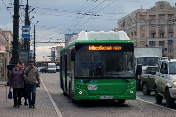 Новые зелёные автобусы уже ходят по маршруту № 64