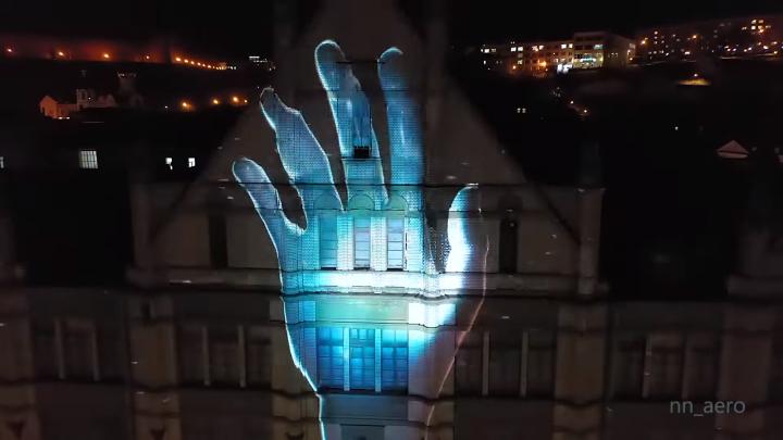 Видео дня. Репетиция уникального лазерного шоу в Нижнем Новгороде