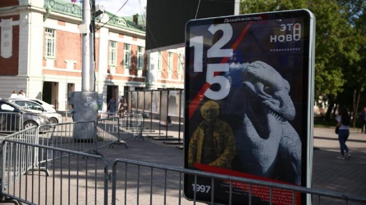 На Красном проспекте повесили 125 плакатов с историями из жизни города