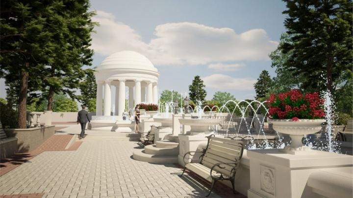 В пермском парке Горького появятся пять фонтанов. Их посвятят династии Романовых