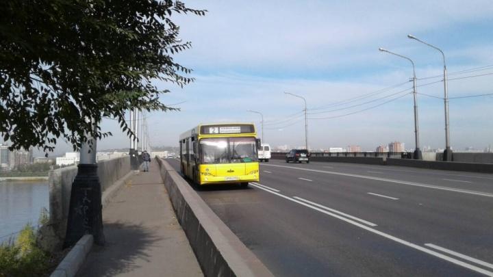 «Работать начнут с января»: по Красноярску продолжают наносить выделенные полосы