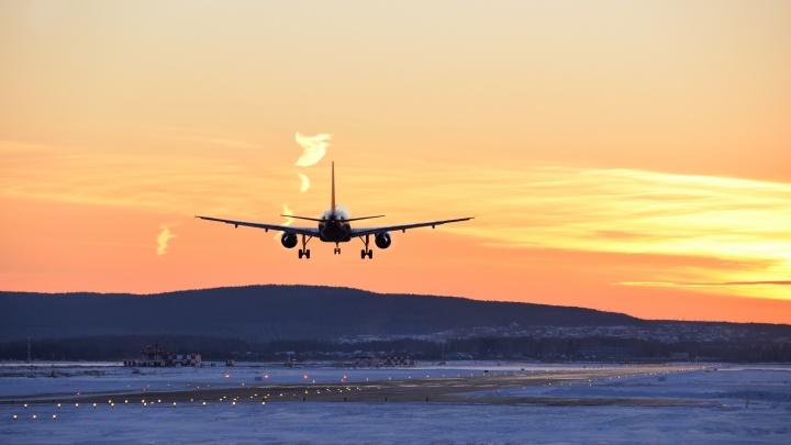 В Кольцово из-за отказа двигателя экстренно сел самолет