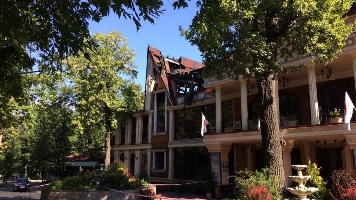 Здесь обедал Путин: в Уфе устанавливают причину пожара в ресторане «Даско Гарден»