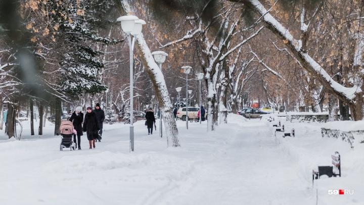 Тепло и снежно: рассказываем о погоде в Прикамье на выходные
