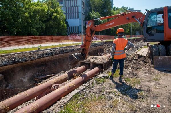 Работы на участке от Московского шоссе до улицы Стара-Загоры шли всё лето