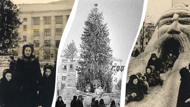 Когда вместо парковки был ледовый городок: как отмечали Новый год на Советской площади в Уфе