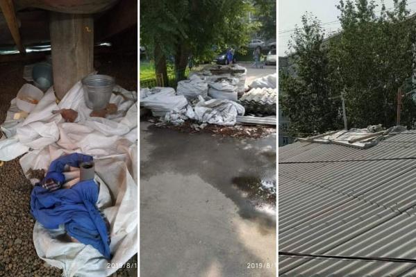 С мая жители дома на Менжинского живут с разобранной кровлей