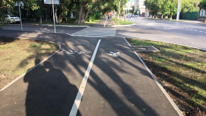 Осталась лишняя банка краски? Чем ужасна новая велодорожка на Осипенко (по версии журналиста 72.RU)