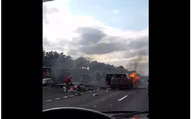 Жуткое ДТП на трассе М-5 под Уфой: пострадали три человека