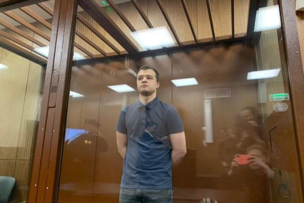 Никита Чирцов в зале суда