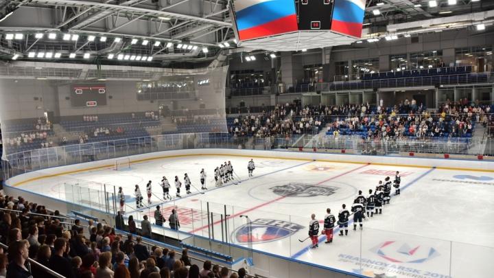 Выступлением фигуристов и хоккейным матчем открыли «Кристалл арену» на Партизана