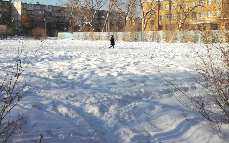 Огромная по дворовым меркам площадка теперь пустует и зарастает кустами