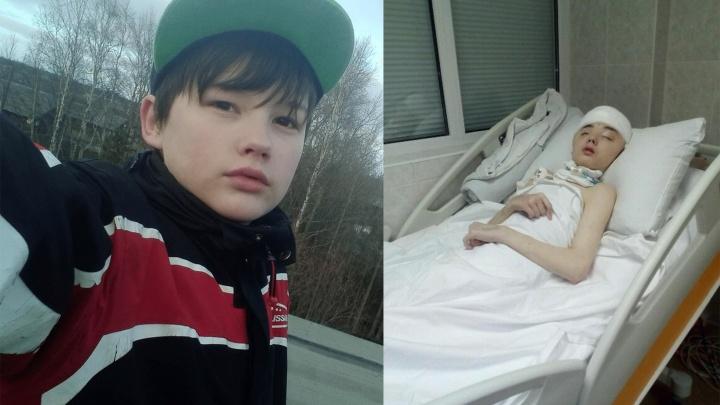 Северодвинский школьник Иван Крапивин, покалеченный пьяным соседом, скончался в Москве
