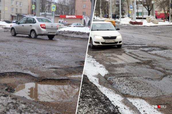 Теперь машины могут не выезжать на встречную полосу, чтобы объехать огромную яму