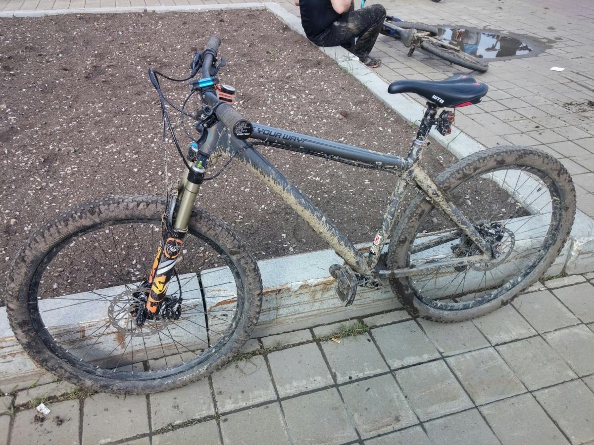 А так велосипеды выглядели после