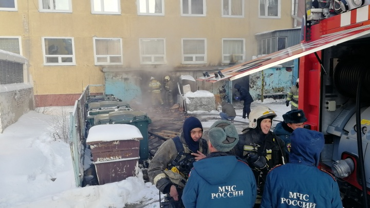 В Омске произошёл пожар в БСМП-1