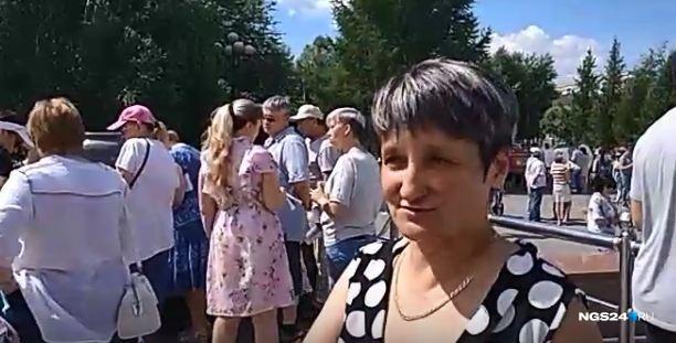 Красноярка рассказывает, что видела бумажное объявление о митинге
