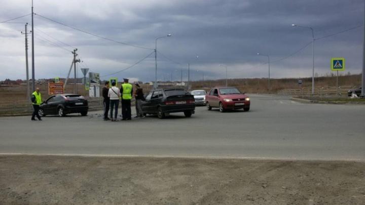«Фокус» подбил ВАЗ на трассе в Челябинской области