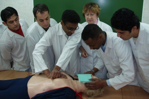Среди медиков много иностранных студентов