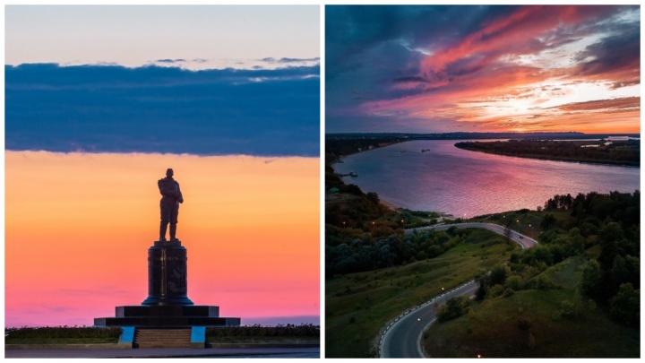 Небесный триколор и мини-серпантин:лучшие кадры недели от нижегородских фотографов