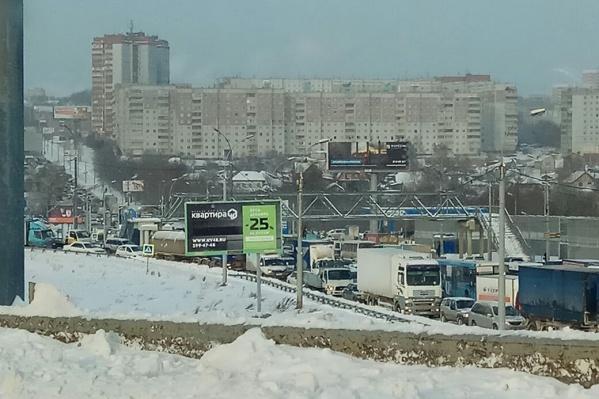 Сегодняшняя пробка на улице Ватутина