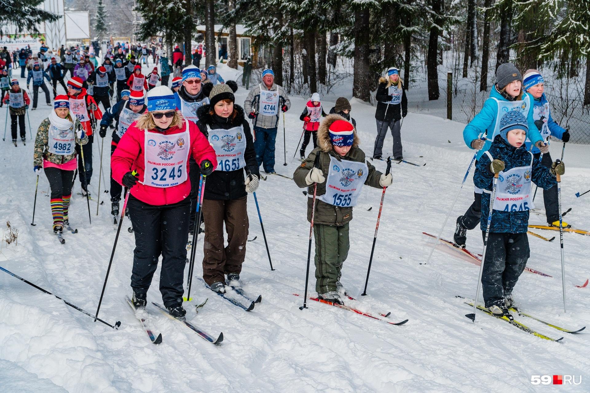 Лыжников было очень много, и все они разные