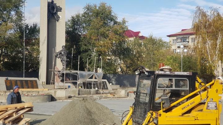 В Кургане заканчивают ремонт сквера барона Розена и сквера напротив «Звёздного»