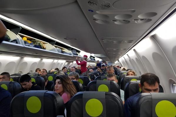 Пассажиры второй раз зашли на борт