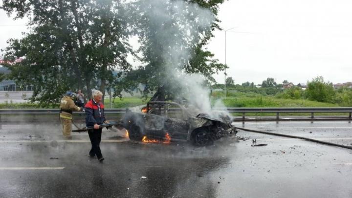Тюменку, устроившую аварию со взрывом на Щербакова, будут судить. Её вину доказывает видео очевидца