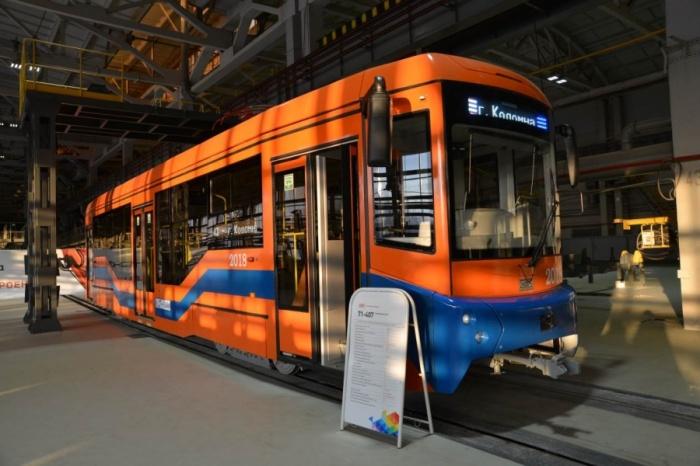Всего в Коломну поставили 21 новый трамвай, сделанный на Урале