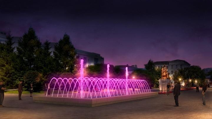 Фонтан у Главпочтамта из светового вновь переделают в водный: как он будет выглядеть
