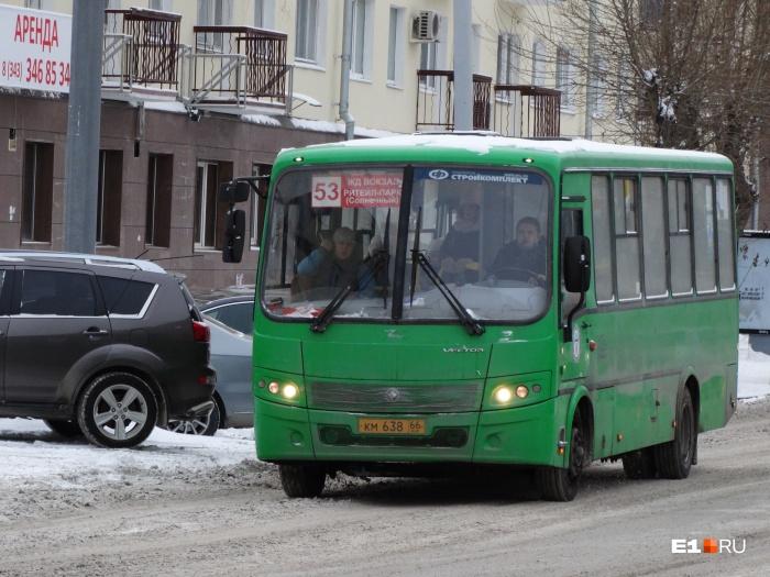 Спустя 4 месяца после запуска маршрута № 53 число автобусов на линии уменьшилось вдвое