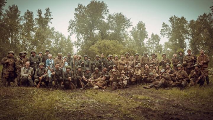Реконструкцию битвы подо Ржевом воссоздали в Красноярске