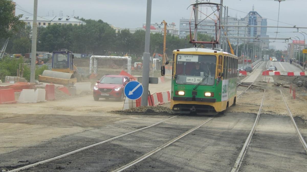 И трамваи тоже ходят