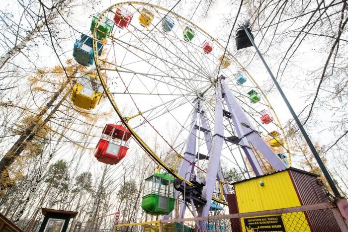Колесо обозрения в Екатеринбурге — производства Ейского завода, такие аттракционы служат долго