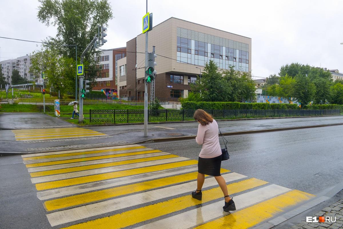 Со стороны ВИЗ-бульвара можно попасть в школу по пешеходному переходу