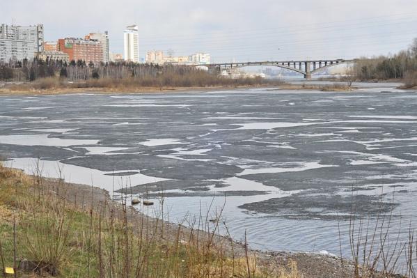 В Красноярске уже начал таять снег