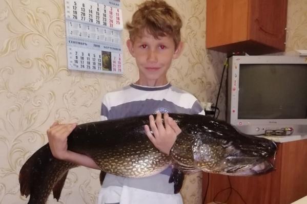Никите и раньше попадалась крупная рыба, но такая огромная щука — впервые